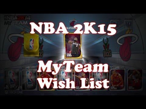 NBA 2K15 MyTeam Wish List   NBA 2K15 MyTeam Needs Overall Cap