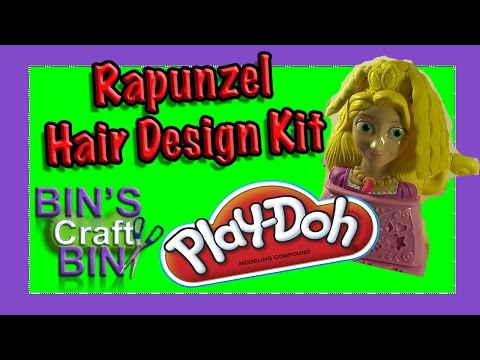 Disney Princess Play Doh Rapunzel Hair Design Style Kit by Bins Crafty...