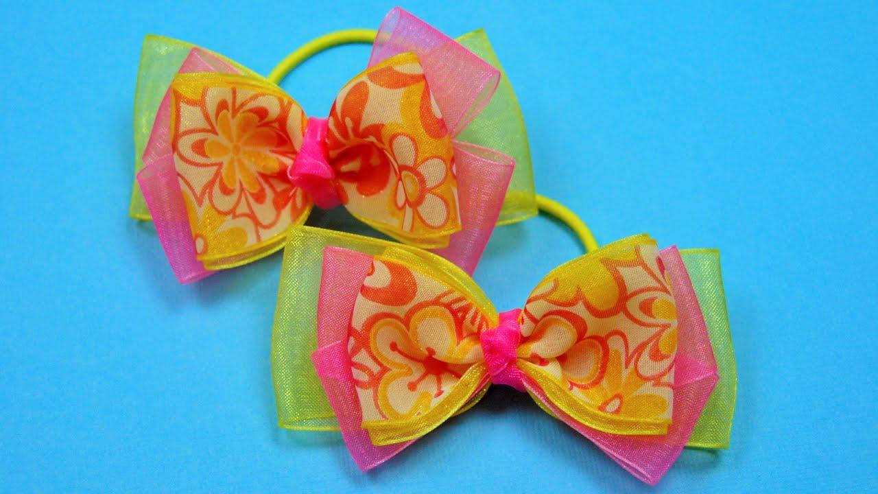 Заколки своими руками: бантики, цветы из атласных лент, декор 24