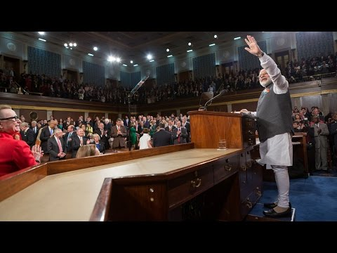 Prime Minister Narendra Modi of India Addresses a Joint Meeting of Congress