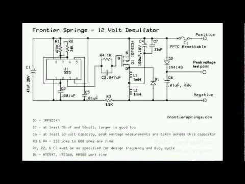 #315 SLA battery plate desulfator circuit #2