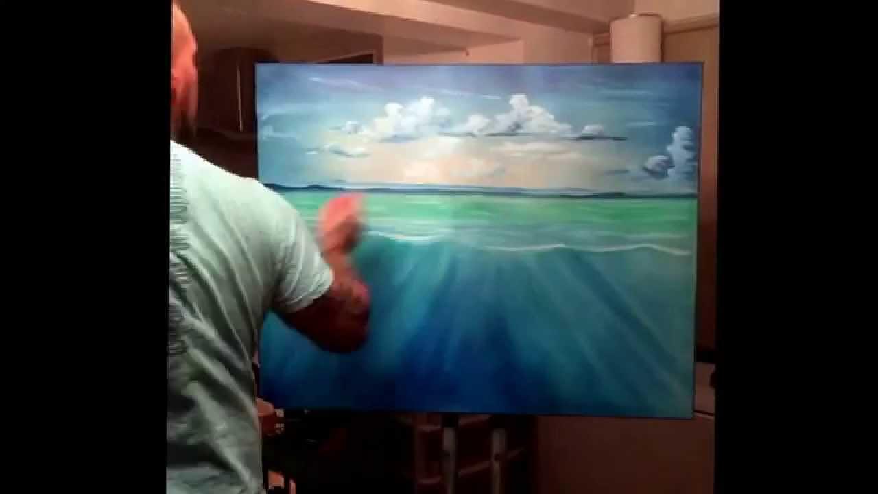 Underwater Oil Paintings Under water scene oil painting