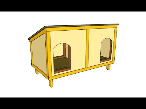 How to build a double dog house youtube for How to build a house for free