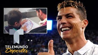 ¿Le gusta Cristiano? El hijo de Messi y el dibujo de la Juventus | La Liga | Telemundo Deportes