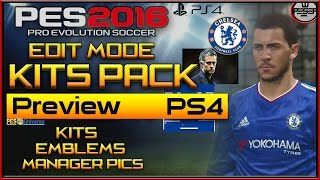 PES 2016 | Kits edit mode tutorial PS4 ONLY!!!