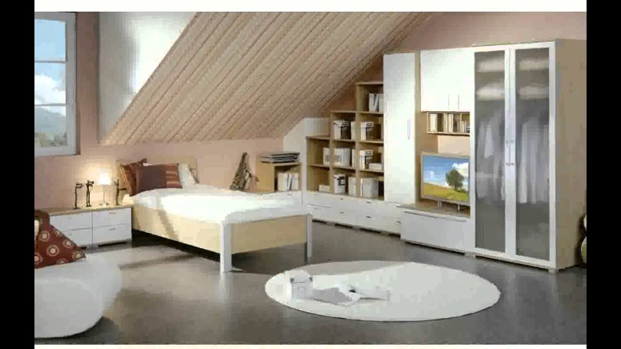 wohnzimmer mit dachschr ge ideen youtube. Black Bedroom Furniture Sets. Home Design Ideas