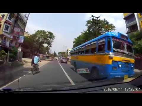 Barasat Road - Barrackpore Flyover To Kalyani Road Crossing - Car Dashboard Cam 1080p 60fps.