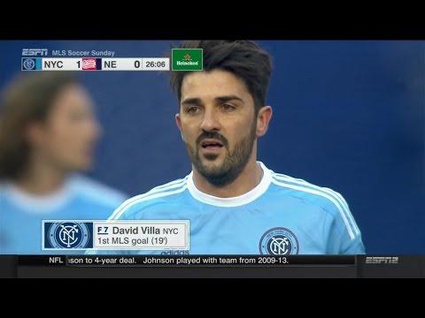 David Villa vs New England Revolution (H) 14-15 HD 720p by Silvan