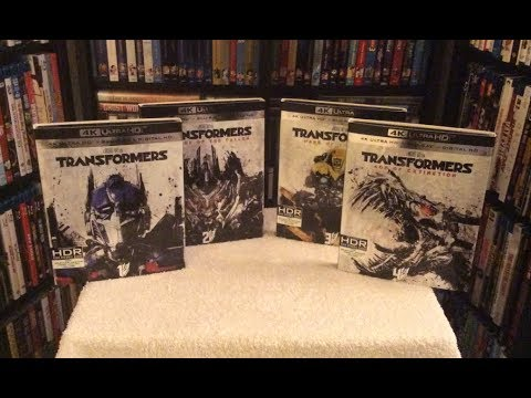 Transformers 1, 2, 3 & 4 4K BLU RAY COLLECTION UNBOXING + Review - 4K ULTRA HD (UHD)