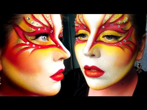 Cirque Du Soleil Worlds Away Inspired Makeup Tutorial - YouTube
