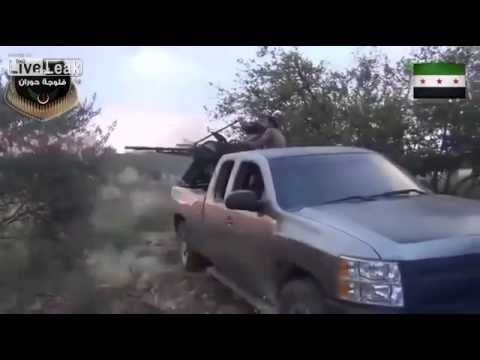AA Gun Mounted In Pickup Truck In Syria