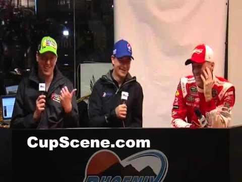 NASCAR at Phoenix International Raceway Nov. 2015: Busch, Harvick, Gordon post race