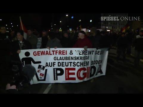 Pegida-Demo in Dresden: Schlimm, das in Paris, aber...