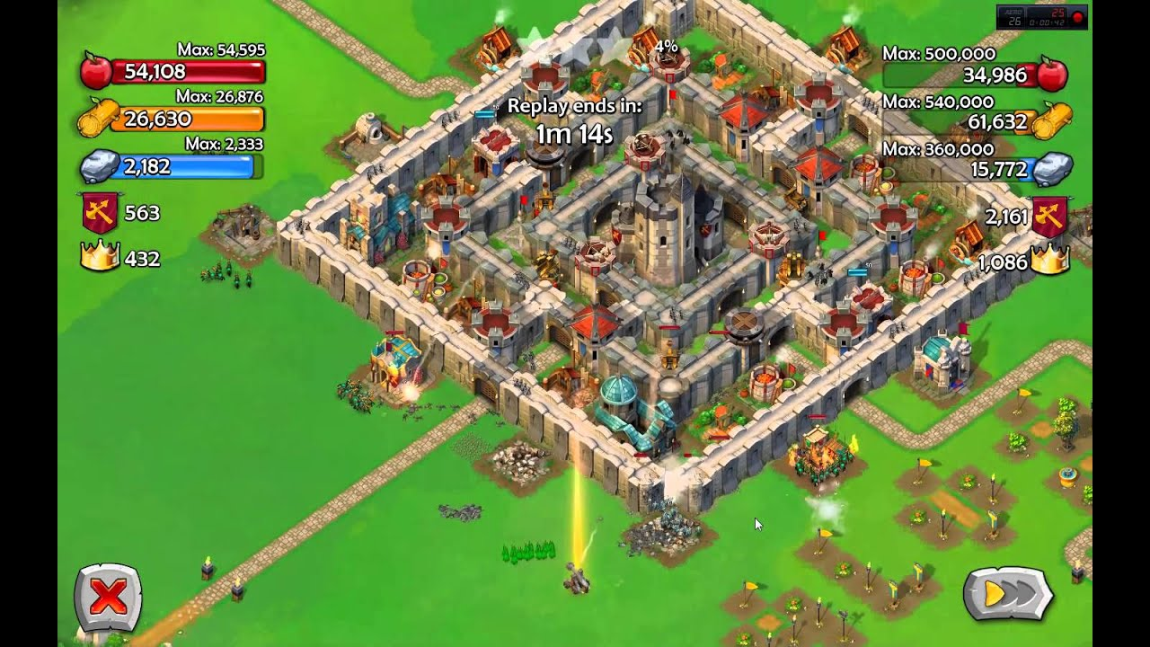 Aoe castle siege building ideas with keep age 8 youtube