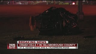 Crash kills one in Hillsborough County