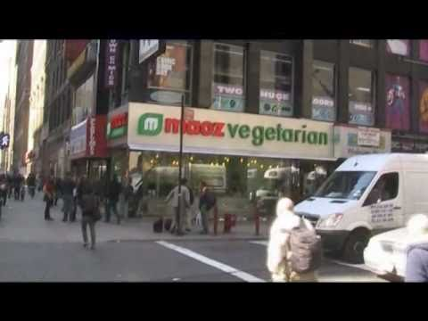 MAOZ Vegetarian Restaurant - NYC intersection 7th Ave/40th street Manhattan NYC