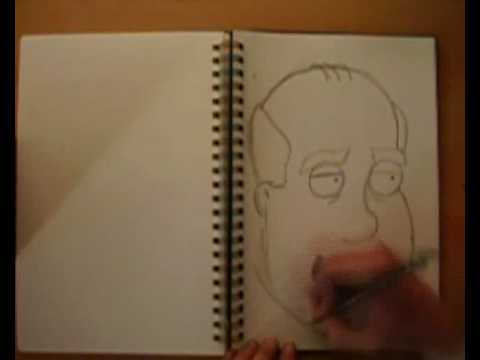 Drawing 50 family guy characters in 10 minutes or less Video