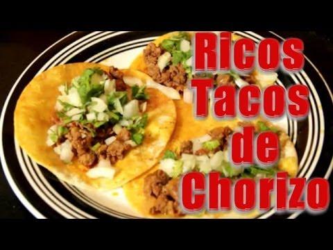 Tacos de Chorizo - Recetas en Casayfamiliatv