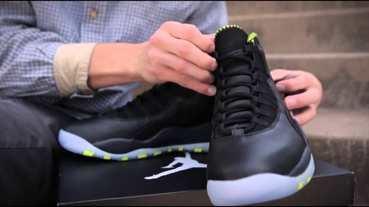 Venom Green 1s Air Jordan 10   Venom Green