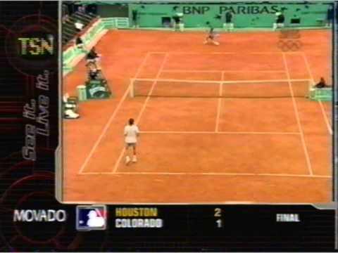Kuerten vs フェレーロ 2001 全仏オープン pt.2 of 7