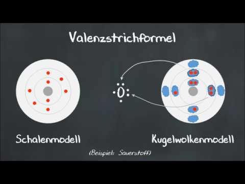 Elektronenpunktformel und Valenzstrichformel