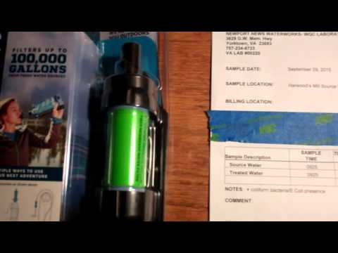 Sawyer Mini Water Filter Lab Test Results Review- Does it work and Remove 99.99999% of Bacteria ?