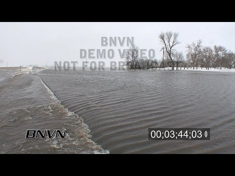 3/26/2009 Moorhead, MN Flooding - Part 1 stock video