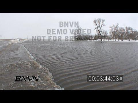 3/26/2009 Moorhead, MN Flooding - Part 1 stock video