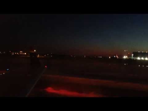 GSO Night Landing Usairways Express Flight 2802 CRJ-200 Runway 23L
