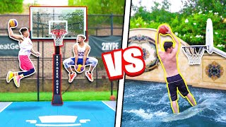 INSANE 2HYPE Pool + Mini Hoop Dunk Contest!