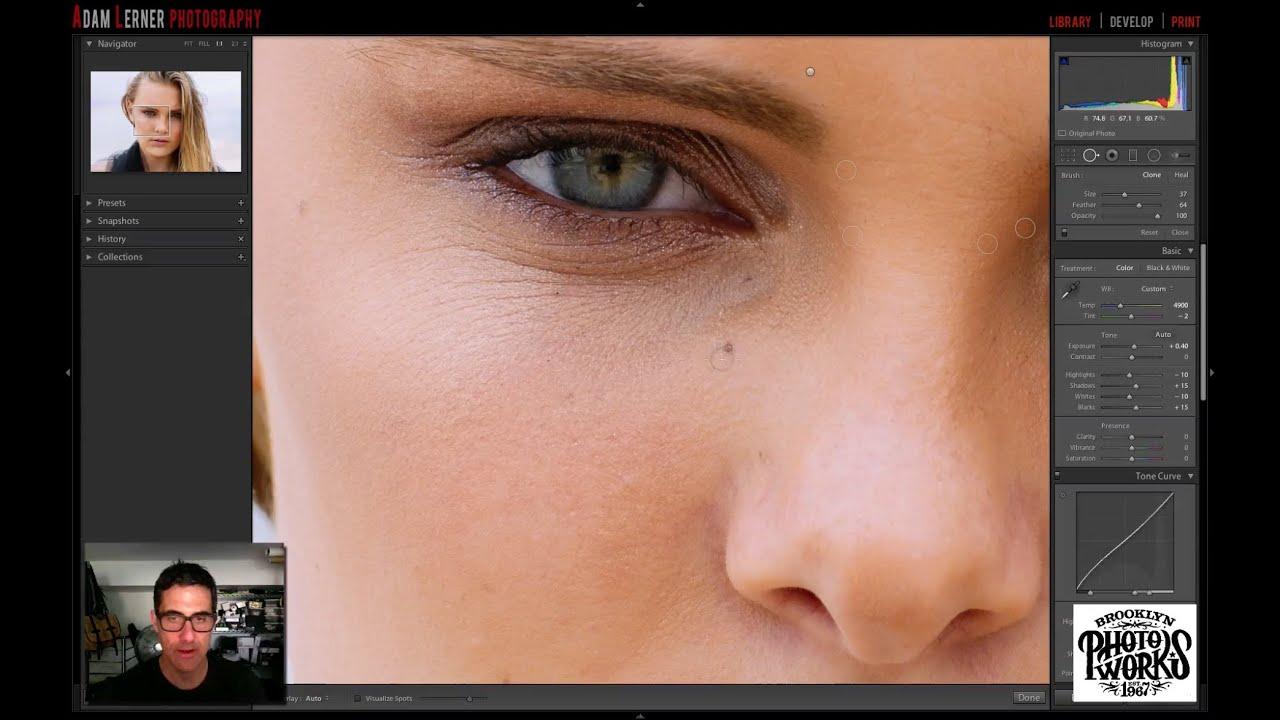 Как сделать белые глаза лайтрум