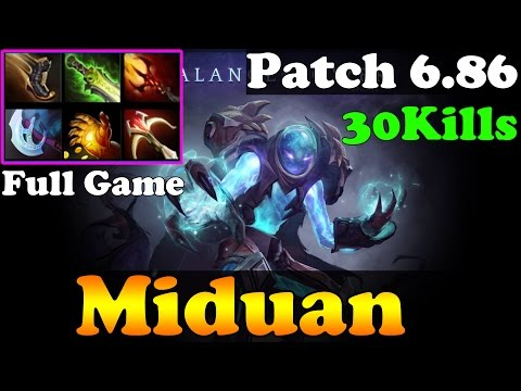 Dota 2 - Patch 6.86 : Miduan 7300MMR Plays Arc Warden 30Kills : Full Game - Ranked Match Gameplay