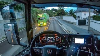 POV Driving Scania S520 - Late night ride through Oslo