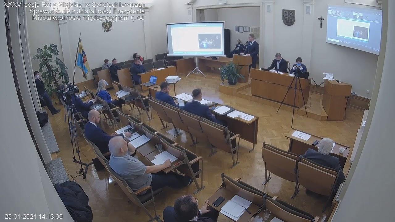 XXXVI sesja Rady Miejskiej w Świętochłowicach - 25.01.2021