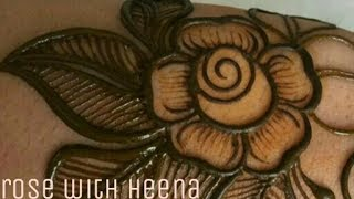 How to make rose with mehndi just simple step(for beginner)
