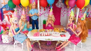 Barbie doll Birthday Party Rapunzel Elsa Ken Pesta Ulang Tahun Boneka Barbie Festa de aniversário