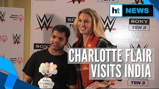 WWE's Charlotte Flair with Special Olympics   Bharat team on Children's Day