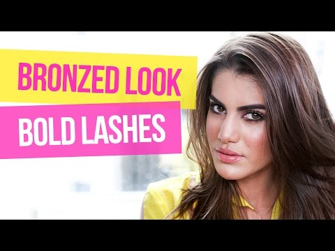 Bronzed Look and Bold Lashes