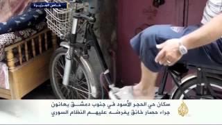 معاناة سكان حي الحجر الأسود بجنوب دمشق
