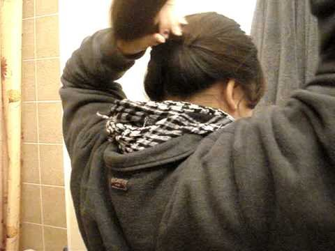 """Quick+Easy School Hairstyle: """"Upside Down Ponytail"""" Updo"""