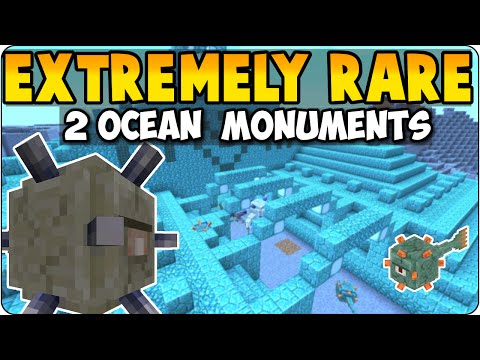 Minecraft Seed Showcase Review 2 Ocean Monuments - Extremely Rare - PS3, PS4, Xbox 360 + One Edition