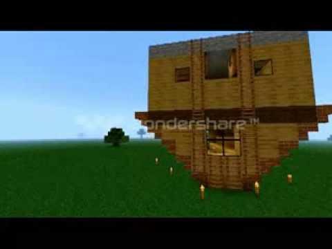 Дом-Вверх дном для Minecraft