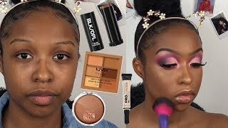 Drugstore Glam Makeup Routine | Affordable Glam Makeup | Makeup for Black Women | Lovevinni_