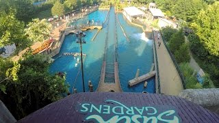 Escape from Pompeii front seat on-ride HD POV @60fps Busch Gardens Williamsburg