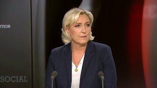 """Marine Le Pen : """"Le parlement européen est dans une démarche d'agression"""""""