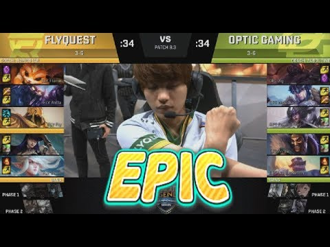 FLY (Fly Azir) VS OPT (POE Syndra) Highlights - 2018 NA LCS Spring W5D2