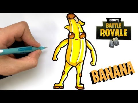 tuto dessin banana - dessin fortnite skin nomade