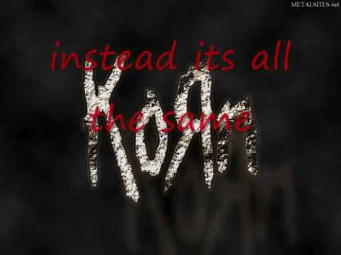 Korn Make Me Bad with lyrics. (High Quality KOЯN)