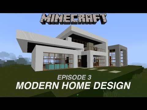 Minecraft Modern Home Design EP3 YouTube