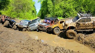 RC Cars in Mud | Tamiya Tundra, Axial Rubicon, Hummer H2, Defender 90, RC4WD Subzero, HG 401 Part 1
